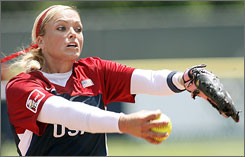 Jennie Finch shut down Canada on Sunday, leading Team USA into the championship game at the World Cup of Softball.