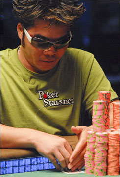 Tuan Lam, one of nine finalists at the World Series of Poker's main event, is in seat 6. Lam, a pro for 17 years, has the best odds of winning according to Danny Sheridan.