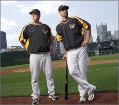 Pitcher Tom Gorzelanny, left, and first baseman Adam LaRoche have been diagnosed with Attention Deficit Disorder but have been able to play big-league baseball with the Pittsburgh Pirates.