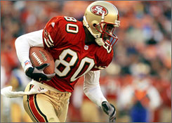 Jerry Rice held 38 NFL records when he retired prior to the 2005 season.