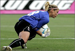 "U.S. goalkeeper coach Phil Wheddon calls Hope Solo ""as close to a complete player as I've ever seen in the women's game."" Solo will lead the U.S. to the 2007 FIFA Women's World Cup in China in September, her first as the starting keeper."