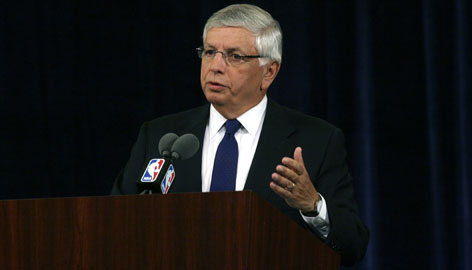 "NBA commissioner David Stern talks about accused ex-referee Tim Donaghy at a news conference on Tuesday in New York. Stern called the disgraced former official a ""rogue,"" and said the betting scandal is an isolated case."