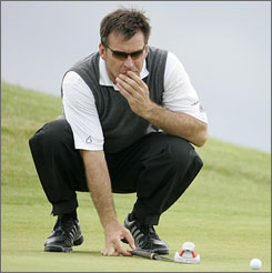 Nick Faldo used his knowledge of Muirfield to open the Senior British Open with a 3-under 68.