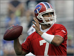"""Buffalo quarterbacks coach Turk Schonert gave J.P. Losman a blunt assessment of the former first-round pick's problems when he arrived with the Bills out of Tulane. """"I told him I thought he was a prima donna coming out of college,"""" Schonert says."""