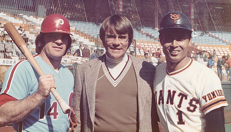 Bodley with Pete Rose and Sadaharu Oh in 1979.  Photo by Cappy Harada