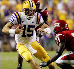 LSU quarterback Matt Flynn will try to fill the shoes of JaMarcus Russell and lead the Tigers to the title game.