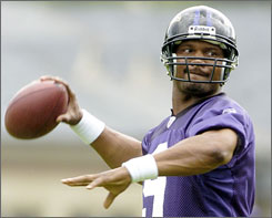 At 34, Baltimore Ravens quarterback Steve McNair is running out of chances to lead a team to a championship.