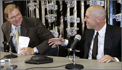 David Freeman, right, chief executive officer of 36 Venture Capital LLC is among a group of eight partners who have agreed to buy the Nashville Predators and keep the team in the area.