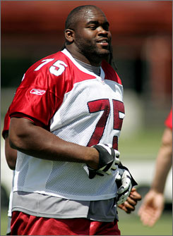 Cardinals first-round pick offensive tackle Levi Brown  agreed to a six-year deal thus ending his holdout. Brown will have some very big shoes to fill if he hopes to replace Leanord Davis, who headed for Dallas this offseason.