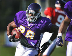 The Vikings hope No. 7 overall pick Adrian Peterson can infuse energy into a rushing attack that ranked 23rd in the NFL last season. 