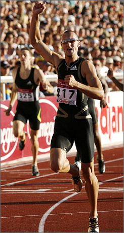 Jeremy Wariner is one of the American athletes expected to contend for a medal at the track and field world championships in Osaka, Japan.
