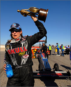"""NHRA Top Fuel driver Melanie Troxel says the new Countdown to the Championship has supplied plenty to a typical mid-August race. """"If we hadn't changed to this new point system, then at this time of year there wouldn't be a whole lot of excitement,"""" Troxel says."""