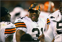 Cleveland running back Jamal Lewis rushed for 1,132 yards last season in Baltimore.