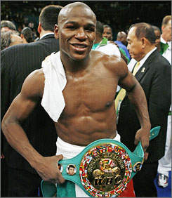 Dancing will be part of Floyd Mayweather's training for his fight against Ricky Hatton.