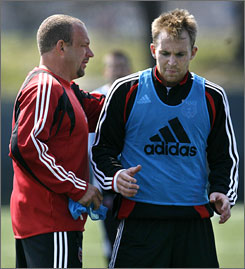 The promotion of longtime assistant coach Tom Soehn, left, by D.C. United, was one of the few changes the club made heading into the 2007 season.