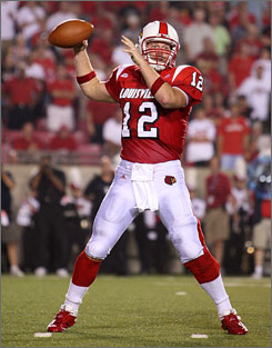 Quarterback Brian Brohm paced the high-powered Louisville offense, throwing for a career-high 401 yards, 275 of which came in the first half.