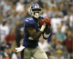 Injuries in the Giants' backfield and to quarterback Peyton Manning could limit the fantasy contributions of receiver Plaxico Burress.
