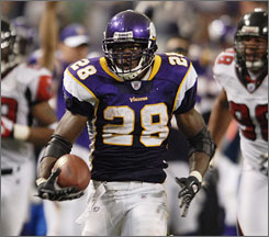 Adrian Peterson, who scored a touchdown in his pro debut, could become the focal point for the Vikings offense.