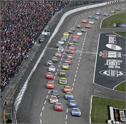 """Texas Motor Speedway is one of five """"cookie cutter"""" tracks  1.5-mile, D-shaped speedways  that are on the schedule during the Chase for the Nextel Cup."""