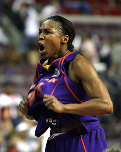 Cappy Pondexter of the Phoenix Mercury was named MVP of the WNBA Finals after her squad defeated Detroit to win the title.