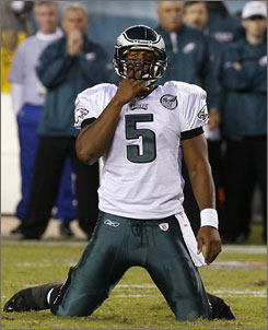 After Monday's 20-12 loss to Washington, Donovan McNabb and the Eagles are 0-2.