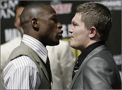 HBO Sports is producing its hit series 24/7 to capitalize on the highly-anticipated fight between Floyd Mayweather, left, and Ricky Hatton in May.