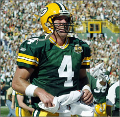 "Not only has Brett Favre tied the record for most career touchdown passes, he's also directing an undefeated team. ""I don't think too many people gave us a shot to be 3-0,"" Favre said. ""I have to admit, I questioned it myself. But with the effort we're playing with  we've got a long ways to go. But it sure is a good start."""