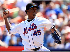 "Pedro Martinez has come back from rotator-cuff surgery to help the Mets in September. His first four games back included pitch counts of 76, 92, 98 and 90. ""This usually takes 16 to 18 months to recover"" from, Mets bullpen coach Guy Conti marvels."