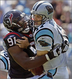 Texans rookie Amobi Okoye, just 20, can't drink legally yet but has four sacks through his first five games.