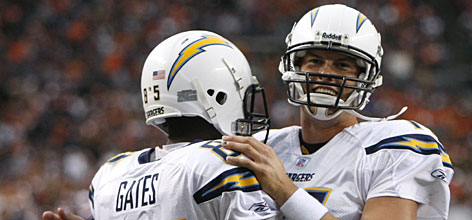 A bounce-back win for San Diego in Denver on Sunday may have been a turning point for the team that had an NFL-best 14-2 record last season. Quarterback Philip Rivers, who had more interceptions (six) than touchdowns (five) in his first four games, broke out with two scoring passes and a 151.4 rating in the 41-3 win.