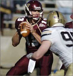 Central Michigan's Dan LeFevour was recognized for performance in a 47-23 defeat of Army.