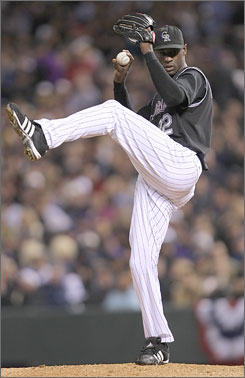 "Rockies reliever LaTroy Hawkins has no intention of shutting down for the season. ""Let's get that swagger back,"" he yelled at his teammates as they prepared for Game 1 of the World Series in Boston. ""We're not done yet."""