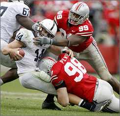 The Ohio State defense will be targeting Penn State quarterback Anthony Morelli when the teams meet in Happy Valley.