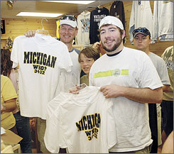 Appalachian State merchandise is still in high demand after the shocking 34-32 win at Michigan in September. Some retailers are selling up to 20 times more Mountaineers merchandise than they did last year.