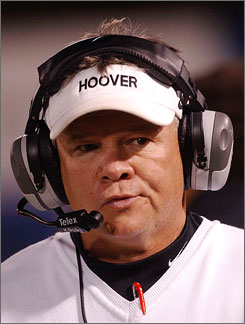 Hoover High School's Rush Propst has agreed to step down as head football coach after this season. An investigation uncovered that players' grades were changed and that an ineligible student had played in four games.