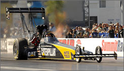 Top Fuel driver Rod Fuller carries a 52-point edge into the final event of the NHRA season.