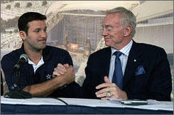 Romo signed a six-year contact with the Cowboys this week. He has solidified the quarterback position that has suffered from ineffectiveness (in Drew Bledsoe, Vinny Testaverde, Quincy Carter, Drew Henson and Chad Hutchinson) since Troy Aikman retired.