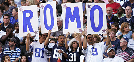 "Cowboys quarterback Tony Romo has won the hearts of legions of fans in Dallas. He staked the Cowboys to a 6-1 start this season, and has a group of male fans who take to calling themselves ""Romosexuals."" Says the quarterback, ""I have heard that term before,"" he says. ""But I ... I don't know what to make of it."""