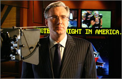 Keith Olbermann will hold court in a much darker NBC studio come Sunday.