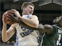 Look for Tyler Hansbrough and the top-notch Tar Heels to cut down the nets in San Antonio, baby!