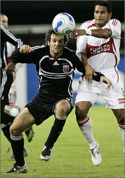 D.C. United's Ben Olsen, left, had an operation on his ankle Monday and his teammate Marc Burch had surgery on his left knee last Thursday.