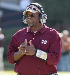 Mississippi State coach Sylvester Croom, the first African-American to lead a SEC football program, has the Bulldogs off to a 6-4 record this year despite a 15-29 mark over four seasons in Starkville.