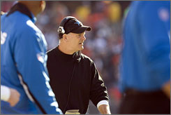 "Detroit Lions coach Rod Marinelli says Sunday's faceoff with the Giants (of two 6-3 NFC playoff contenders) is a ""statement game"" for his team, which hasn't visited the postseason since 1999. ""They've earned this right to play in a big game, for what they've done on the field,"" he said of his players. ""It's kind of unchartered waters for us. But it's exciting."""