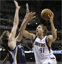 Fans are accustomed to seeing Dallas forward Dirk Nowitzki score at will, but the NBA's reigning MVP is averaging a career-high 4.8 assists per game this season.