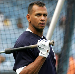 Despite third baseman Alex Rodriguez's top-dollar contract, his presence can boost the Yankees' game attendance, concessions, broadcast fees and merchandising revenue.
