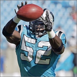 Panthers rookie linebacker Jon Beason has an affinity for DVDs and for notching double-digit tackles each week.