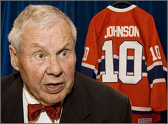 Hockey Hall of Famer Tom Johnson, a former Montreal player and Boston coach and executive passed away Thursday at 79.
