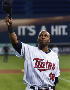 Torii Hunter was a fan favorite in Minnesota, where he patrolled center field for the Twins for the past nine years. He'll be leaving for Anaheim next season after agreeing to a five-year, $90 million contract.