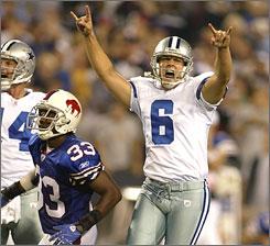 Cowboys kicker Nick Folk's kick as time expired on Oct. 8 in Buffalo helped Dallas beat the Bills 25-24.