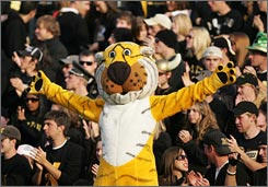 Missouri's fans and mascot, Truman the Tiger, have something to cheer about this season after many years of suffering. Mizzou last won a conference championship when it shared the Big Eight title in 1969.
